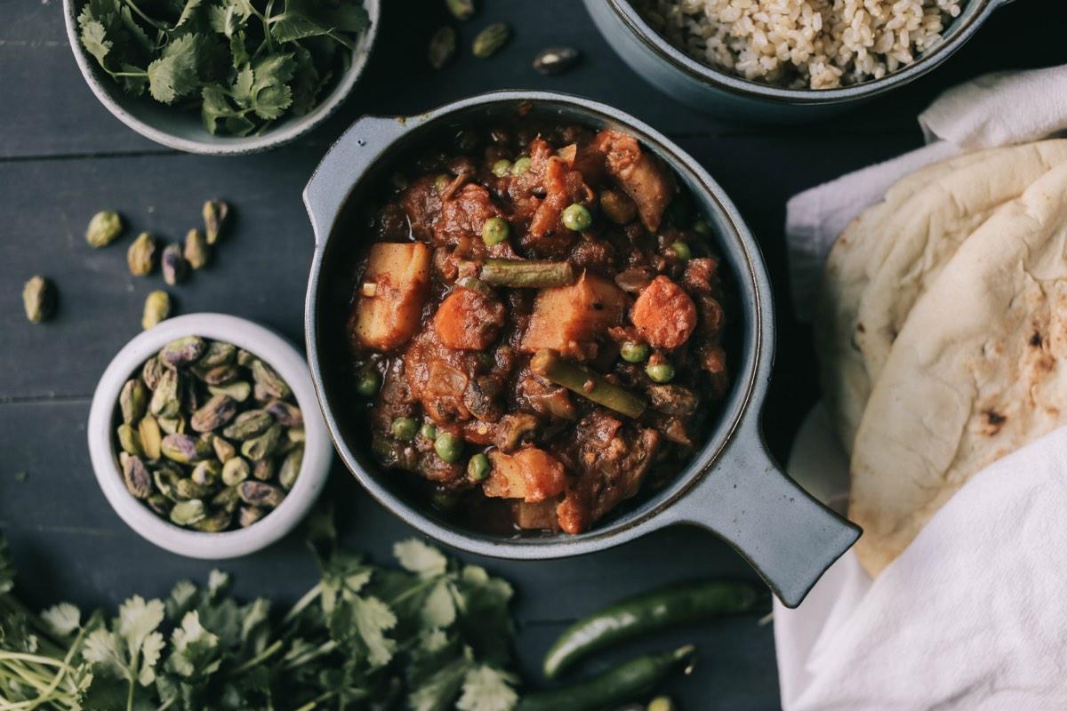 Jeff's (Vegan) Vegetable Korma • Thyme & Temp